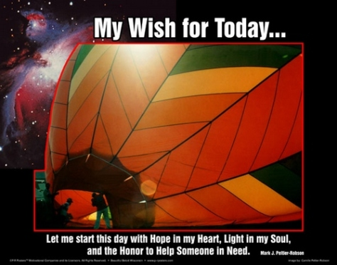 My wish for today